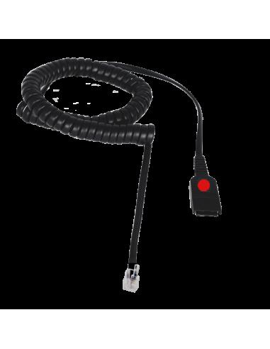 Cable QD FreeMate DS-RJ9 Rojo